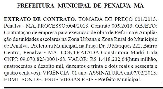 PENALVA - 20 DE MAIO