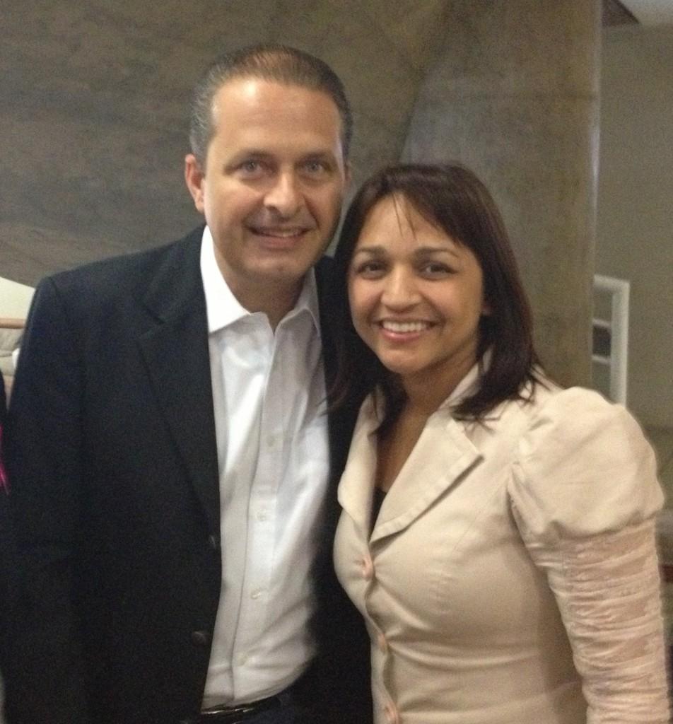 Eliziane e Eduardo Campos.