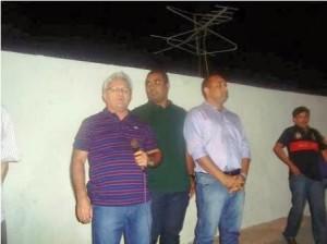 Ex-prefeito Osmani, Alberto Filho e Roberto Costa.