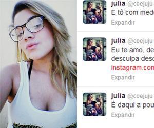 Júlia Rebeca, de 17 anos, foi encontrada morta enforcada em um fio de chapinha