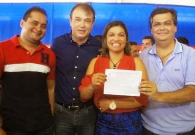 Weverton Rocha, Carlinhos Amorim, rosangela Curado e Flavio Dino.