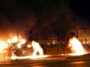 Ônibus queimado no ultimo final de semana.