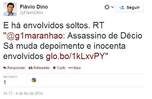 OU SABE OU QUIS APARECER Comunista revelou que tem conhecimento de outras pessoas envolvidas na trama que assassinou Décio Sá. Foto: Reprodução / Twitter