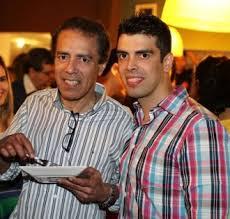 Desembargador Leomar Amorim ao lado do filho, advogado Gustavo Amorim.