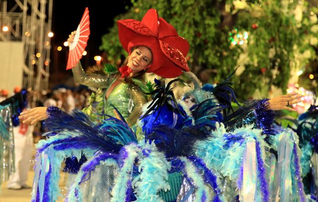 Comissão da Flor do Samba fez bonito na Passarela. (Foto: Paulo de Tarso Jr.)