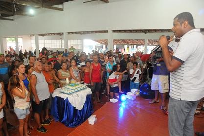Fábio Câmara discursando no aniversário de 25 anos de fundação da Guarda Municipal.