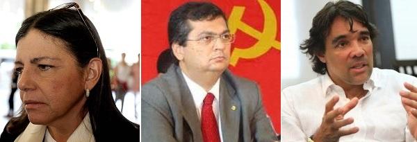Governadora Roseana Sarney, Flávio Dino e o senador Lobão Filho.
