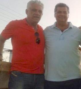 Dedé Macedo e Flávio Dino.
