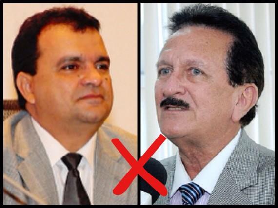 A esquerda o deputado estadual Camilo Figueiredo e a direita o presidente do TCE Edmar Cutrim