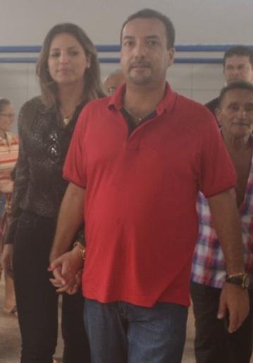 Noelia Cutrim e o marido Delmar Sobrinho.