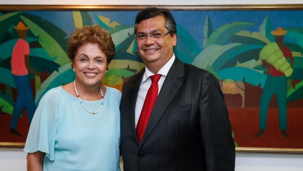 Flávio Dino e Dilma Rousseff.