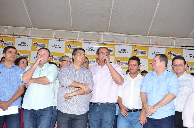 Presidente da Asembleia ao lado do governador Flávio Dino.