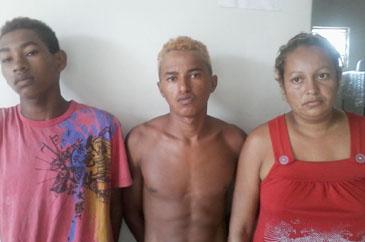 Cleonilson, Laurileide e Dentinho do Sarnambi, foram presos em uma residência no Residencial São José.