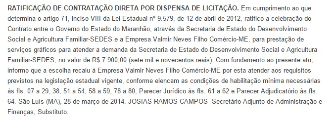 Contrato Neves Filho 2014.