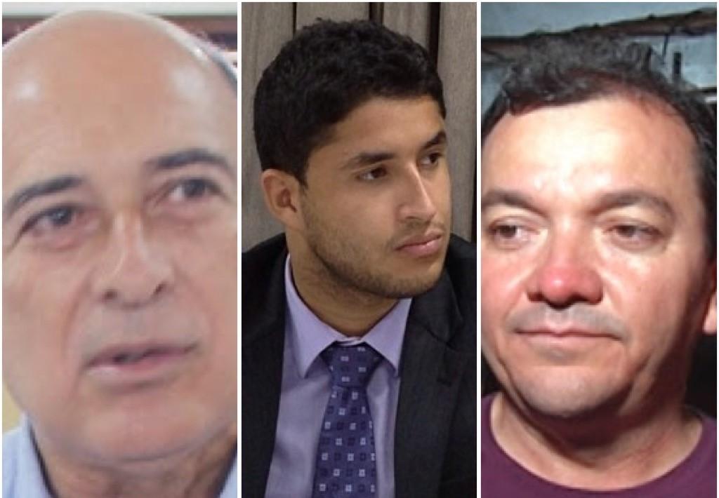 Ribamar Alves, Roberto Júnior e Miltinho, prefeito de São Mateus.