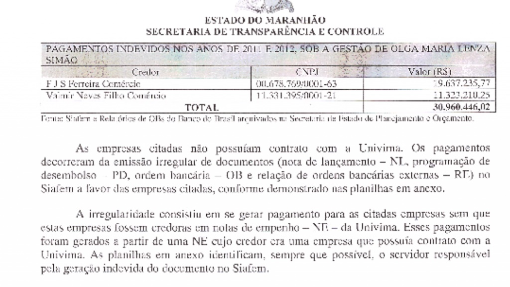 Documento extraído do Blog Gilberto Leda.