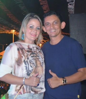 Prefeito Waldênio Souza e a esposa Aline Alice