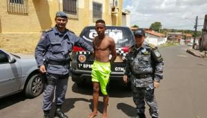 A polícia localizou o suspeito durante um trabalho de busca