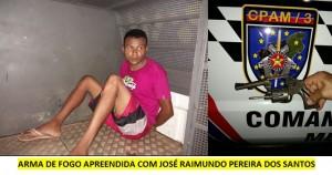 José Raimundo Pereira dos Santos, preso por porte ilegal de arma