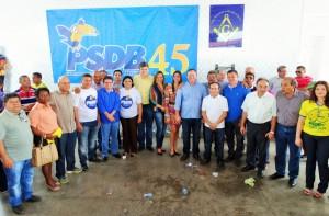 Lideranças de vários partidos participaram do evento