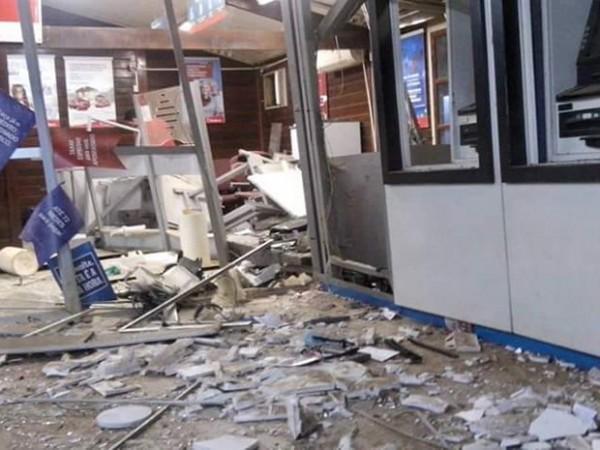 Explosão em agência bancária de Buriticupu (MA) (Foto Divulgação TV Mirante)