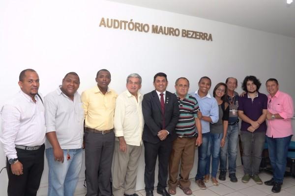 Deputado Welligton com membros do Sindicato dos Radialistas do Maranhão (SINRAD)