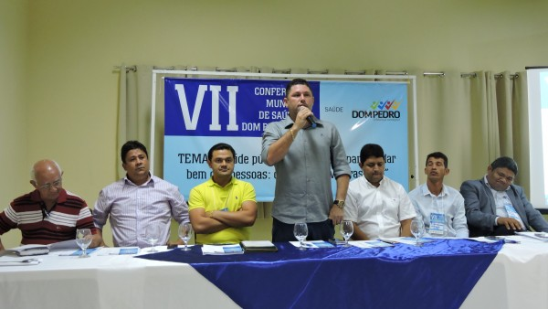 Prefeito Hernando  Macedo abre a VII Conferência Municipal de Saúde de Dom Pedro