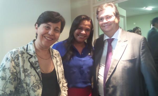Tereza Campello (Ministra de Desenvolvimento Social e Combate à Fome), Ana do Gás e Flávio Dino