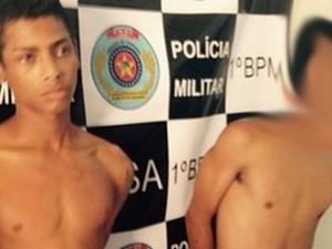 Os dois suspeitos foram capturados pela polícia