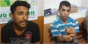 Os assaltantes foram presos durante uma ronda da polícia