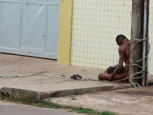 Cledenilson Pereira da Silva, de 29 anos, espancado no bairro do São Cristóvão, a