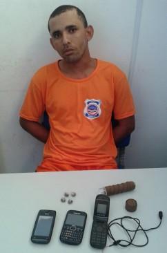 Mauro tentou no presídio com drogas e celulares