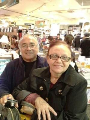 Léo e Sandra Costa em viagem à China