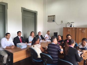 Wellington participa de Audiência com Comissão do TJ e manifestantes de Alcântara