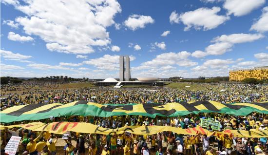 Manifestação em Brasília. Foto_ G1