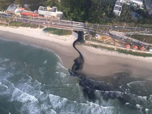 Mancha começa a se espalhar pelo mar