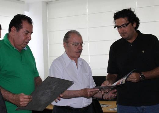 Mauro, Sarney e Clóvis Fecury.