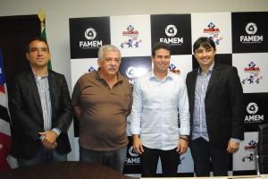 Técnicos da Funasa, Gil Cutrim da Famem e o Superintendente André Campos
