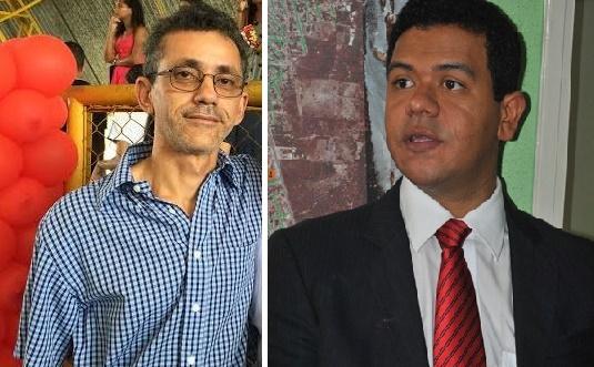 Dono da agência e o prefeito de Timon, Luciano Leitoa.