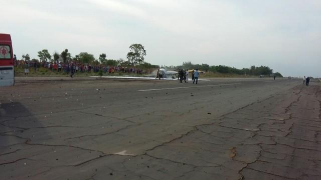 Momento do acidente aéreo em Balsas.