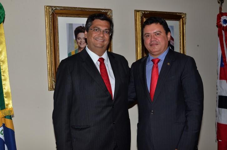 Flávio Dino e Rigo Teles.