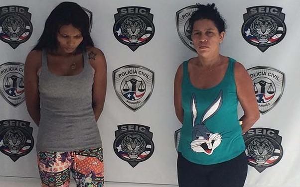Transexual Penélope, 25, e a babá Franciene, 39, são suspeitas pelo roubo (Foto: Mieko Wada/TV Mirante)