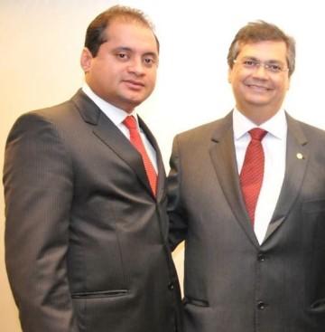 Weverton Rocha ao lado do governador Flávio Dino.