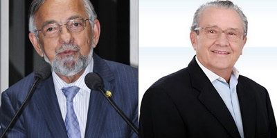 Senador João Capiberibe e o deputado federal José Reinaldo Tavares.