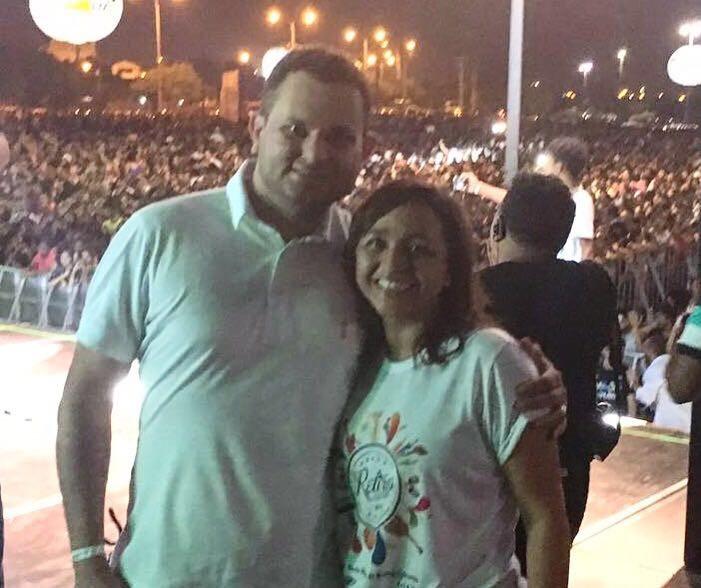 Eliziane Gama e Umbelino Júnior.