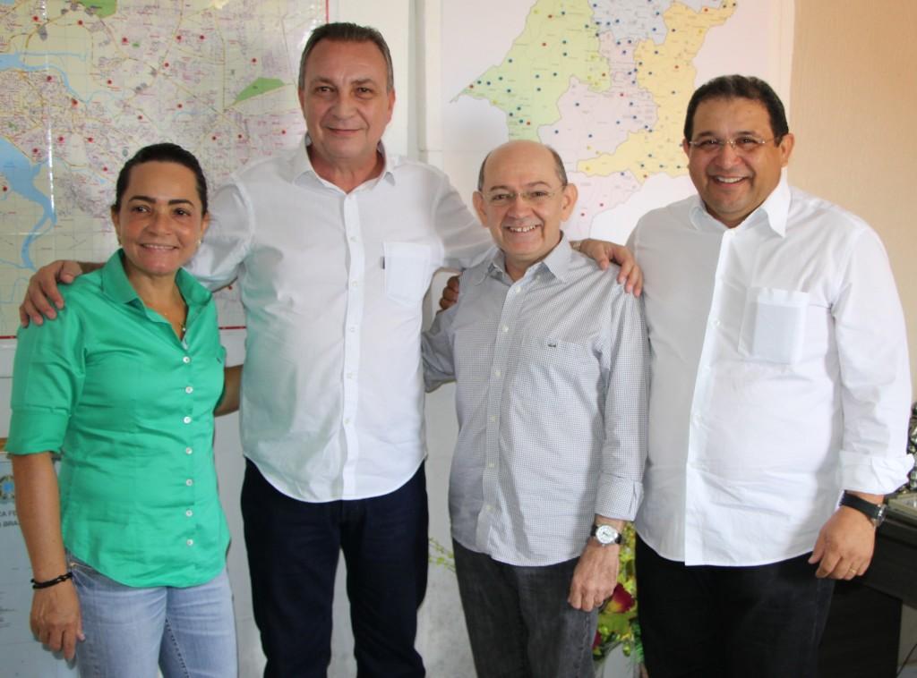 Foto 3 - Luis Fernando com Eudes Sampaio, Jota Pinto e Conceição
