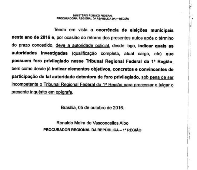 Documentos que comprovam que Eduardo Braide está sendo investigado pela Polícia Federal.